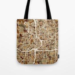Atlanta Georgia City Map Tote Bag