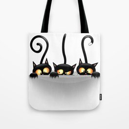 Three Naughty Playful Kitties Tote Bag