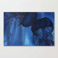 jellyfish Canvas Prints featuring Jellyfish by Dana Martin