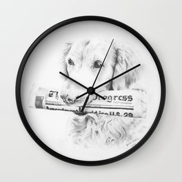 The Daily Progress - Vertical Wall Clock