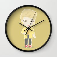 golden girls Wall Clocks featuring Girls in their Golden Years - Blanche by Ricky Kwong