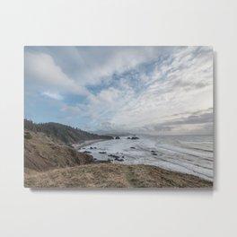 Beautiful Landscape at Ecola State Park Oregon Metal Print