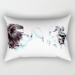 Girl with Flowers Rectangular Pillow