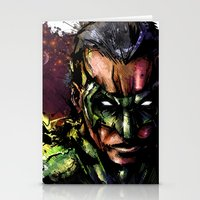 green lantern Stationery Cards featuring Green Lantern by Vincent Vernacatola