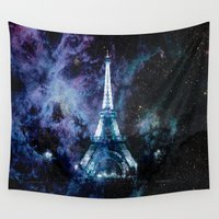 paris Wall Tapestries featuring Paris dreams by 2sweet4words Designs