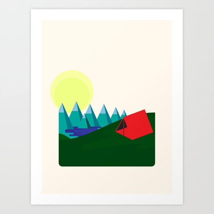 Camping is fun! Art Print