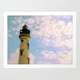 Cloudy at the Lighthouse Art Print