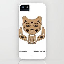 Spirit Bear & Cub by: Jody Broomfield iPhone Case