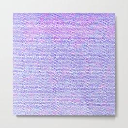 Purple Pink Elegant Flat Weave Rug Texture Metal Print