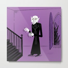 The Halloween Series - Nosferatu - Purple version Metal Print