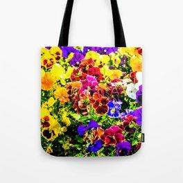 Viola Tricolor Pansy Flowers Tote Bag