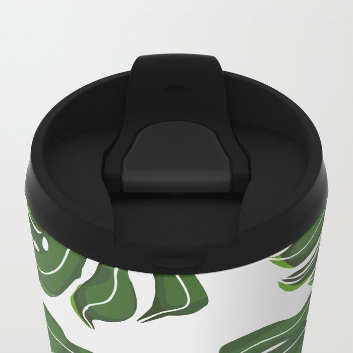 Monstera Pug Metal Travel Mug