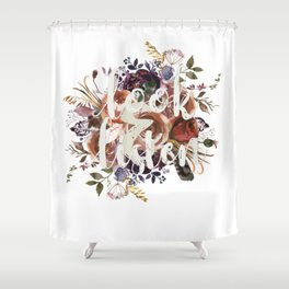 Look & Listen Floral Shower Curtain