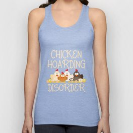 Pet chicken hoarding disorder Christmas funny chicken tshirt Unisex Tank Top