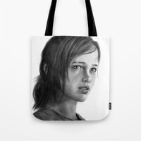 ellie goulding Tote Bags featuring Ellie by robo3687