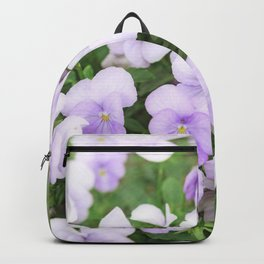 Purple small pansy garden Backpack