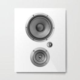 Subwoofer Speaker on white Metal Print