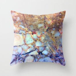 marble effect 007 (blue) Throw Pillow