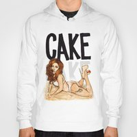 cake Hoodies featuring CAKE  by Helen Green