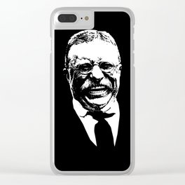 Teddy Roosevelt Smiling Clear iPhone Case