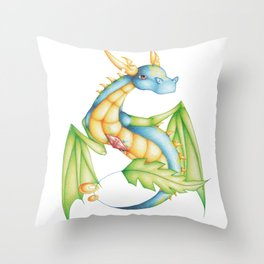 BlueLeaf Throw Pillow