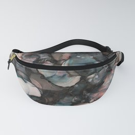 alcohol ink - pitch black 2 Fanny Pack