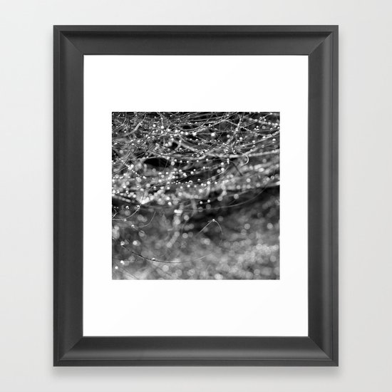 Dewdrops and Bokeh Framed Art Print