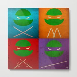 TMNT Collection Metal Print