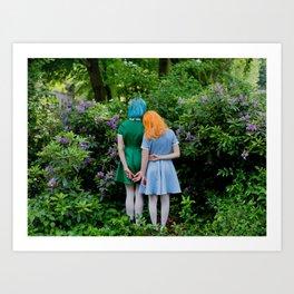 sara and laetitia at kornerpark Art Print