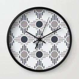 Geometric Pattern. Circles and Rhombuses Wall Clock