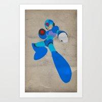 Buster B.A. (Megaman) Art Print