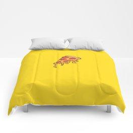 Cheesy Pepperoni Pizza Slice Comforters