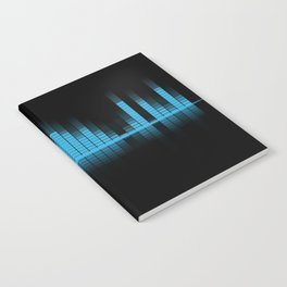 Cool Blue Graphic Equalizer Music on black Notebook