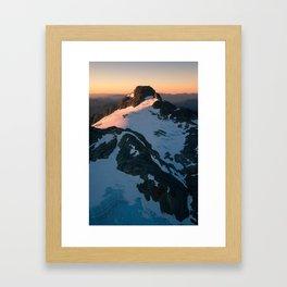 Sunkist Peaks Framed Art Print
