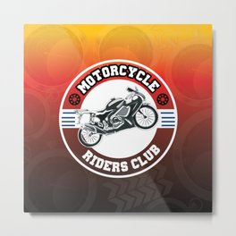 Motorcycle Riders Club Metal Print