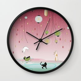Cat's Paradise Wall Clock
