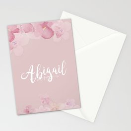 Name Abigail Stationery Cards