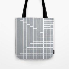 Fuzz Outline Grey Tote Bag