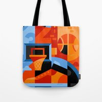 basketball Tote Bags featuring Basketball by koivo