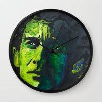 senna Wall Clocks featuring Senna by Matt Pecson