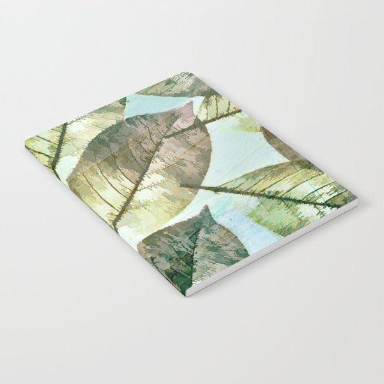 Vintage Leaf Abstract Notebook