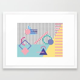 Memphis Pattern 5 - 80s - 90s - Retro Framed Art Print