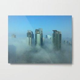 Misty Doha Morning Metal Print