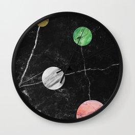 Black Marble with Polka Dots Wall Clock