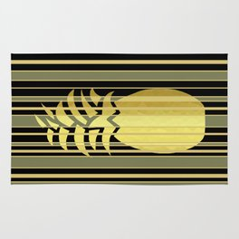 Pineapple And Stripes Rug