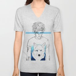 Louis and the wolf Unisex V-Neck