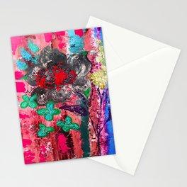 Pink Bird nest Stationery Cards