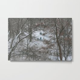 Snow in Tompkins Square Park. East Village. New York. Metal Print