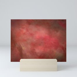 Abstract Watercolor Gradient Blend 2 Deep Red and Yellow Mini Art Print