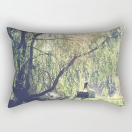 by the lake Rectangular Pillow